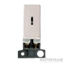 Click MiniGrid MD046PN Pearl Nickel Double Pole Keyswitch Module