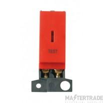 Click MiniGrid MD046RDTT Red Double Pole Test Keyswitch Module