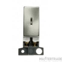 Click MiniGrid MD046SC Satin Chrome Double Pole Keyswitch Module