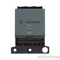 Click MiniGrid MD220BK Black 3 Pole Fan Isolator Lockable Sw Mod