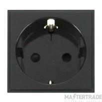 Click New Media MM020BK 1 Gang SCHUKO Socket Black