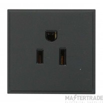 Click New Media 16A 110V Socket 1 Module US Black MM030BK