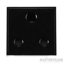 Click New Media 15A Socket Round Pin Media Module Black MM033BK