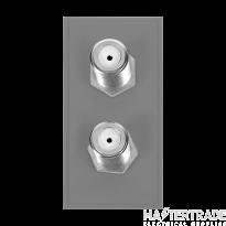 Click MM406GY Socket Sat Twin Female Blk