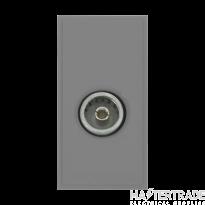 Click MM410GY Socket CoAx Female Blk