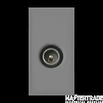 Click MM415GY Socket CoAx Male Blk