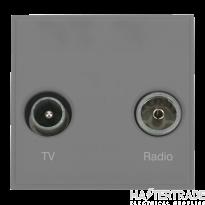 Click MM420GY Socket TV FM Blk