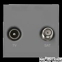 Click MM425GY Socket TV Sat Blk