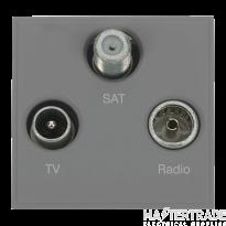 Click MM430GY Socket TV FM Sat Blk