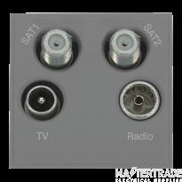 Click MM440GY Socket Sat 1& 2 Blk