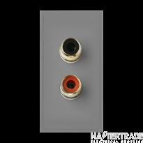 Click MM490GY Socket 2xPhono Blk