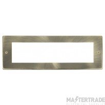 Click New Media Antique Brass 8 Module Front Plate MP508AB
