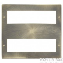 Click New Media Antique Brass 16 Module Front Plate MP516AB