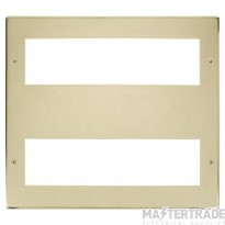 Click New Media Polished Brass 16 Module Front Plate MP516BR