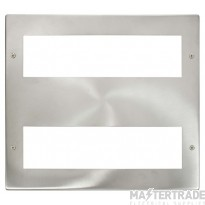 Click New Media Brushed Stainless 16 Module Front Plate MP516BS