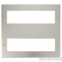 Click New Media Pearl Nickel 16 Module Front Plate MP516PN