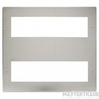 Click New Media Stainless Steel 16 Module Front Plate MP516SS