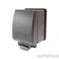Click AquIP Weatherproof IP66 13A 1 Gang Switched Socket OA035AG