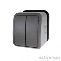 Click AquIP Weatherproof IP66 2 Gang 2 Way Switch OA412AG