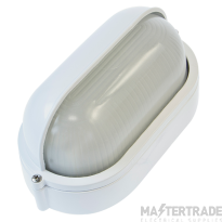 Ovia OVOL420WH 60W Max. E27 Oval Bulkhead With Eyelid - IP54 -  White