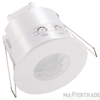 Ovia OVPIR009WH Recessed 360o Low Profile Flush PIR With Manual Override - White