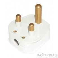 Click Scolmore 5A White Round Pin Plug Top PA166