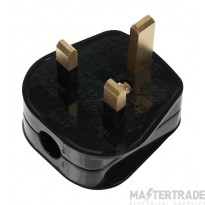 Click 13A Plug Resilient Fused 3A Black PA311