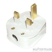 Click 13A Plug Resilient Fused 3A White PA321