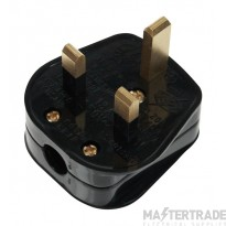 Click 13A Plug Resilient Fused 5A Black PA332