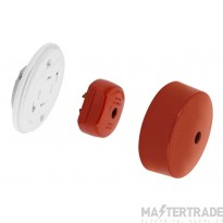 Click 6A Ceiling Rose Quick-Connect 4Pin c/w Plug & Cover Red PRC1440RD