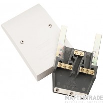 Click Polar 45A Easy Fit Dual Appliance Outlet Plate PRW217