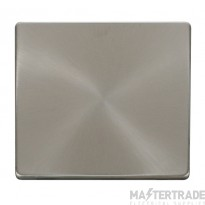 Click Definity Blanking Plate 1 Gang Brushed Stainless SCP060BS