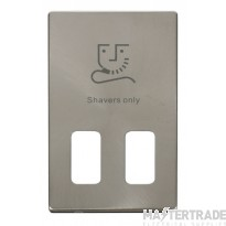 Click Definity Dual Voltage Shaver Socket Cover Plate SCP100BS