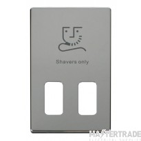 Click Definity Dual Voltage Shaver Socket Cover Plate SCP100CH