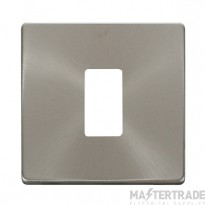 Click Definity B/Steel 1 Gang Grid Pro Front Plate SCP20401BS