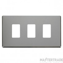 Click Definity Pol/Chrome 3 Gang Grid Pro Front Plate SCP20403CH