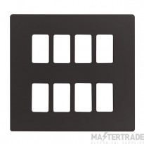 Click Definity Black 8 Gang Grid Pro Front Plate SCP20508BK
