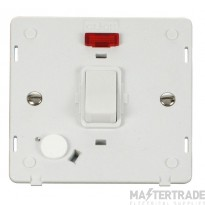 Click Definity 20A DP Switch with F/O Neon Insert SIN023PW