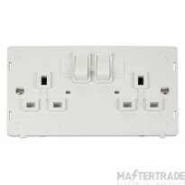 Click Definity 2 Gang DP Switched Socket Outlet Insert SIN036PW