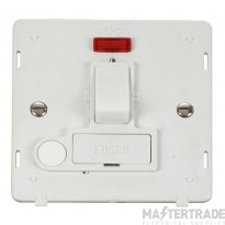 Click Definity 13A Connection Unit Interior Switched Fused c/w Neon Polar White SIN052PW
