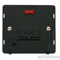 Click Definity 13A Connection Unit Interior Fused c/w Neon & FO Black SIN053BK
