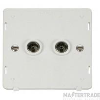 Click Definity Socket Interior Twin Coaxial Polar White SIN066PW