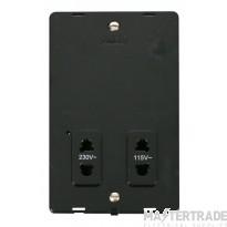 Click Definity Dual Voltage Shaver Socket Outlet Insert SIN100BK