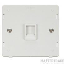 Click Definity Socket Interior Single RJ11 Polar White SIN115PW