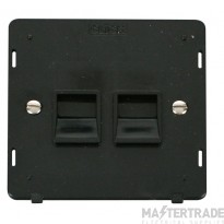 Click Definity Socket Interior Twin Telephone Master Black SIN121BK