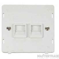 Click Definity Socket Interior Twin Telephone Secondary Polar White SIN126PW