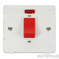 Click Definity 45A DP Switch with Neon Insert SIN201PW