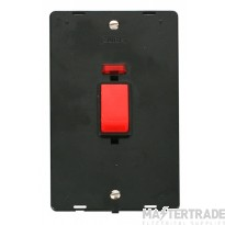 Click Definity 45A DP Vertical Switch with Neon Insert SIN203BK