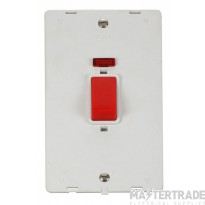 Click Definity 45A DP Vertical Switch with Neon Insert SIN203PW