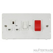 Click Definity 45A DP Cooker Switch with 13A Socket SIN204PW